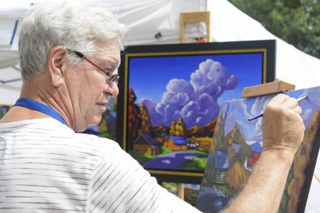 Le peintre Yves Groulx... (Andréanne Lemire)