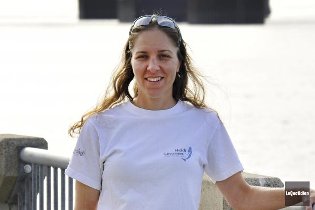 Heidi Levasseur est arrivée à Chicoutimi dimanche. Après... (Photo Le Quotidien, Rocket Lavoie)