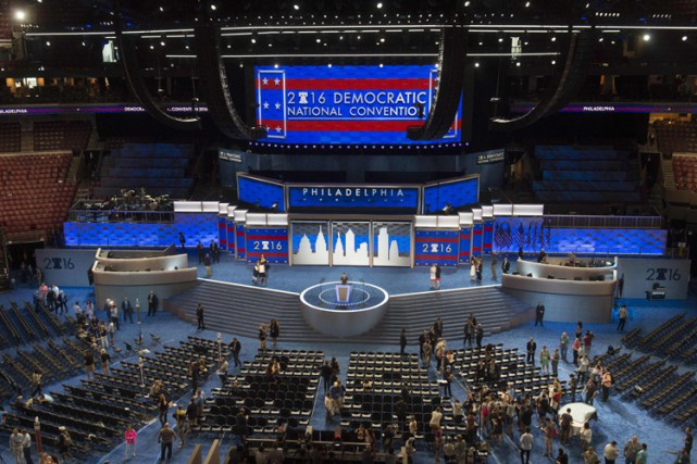 Tout ce que le parti démocrate compte d'étoiles... (PHOTO AFP)