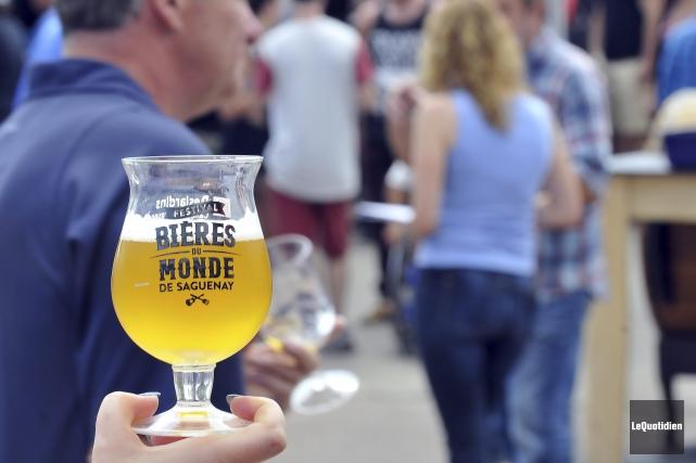 Le Festival des bières du monde de Saguenay... (Photo Le Quotidien, Rocket Lavoie)