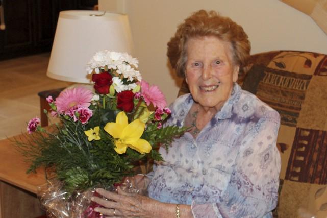Juliette Tremblay-Gagnon, née en 1916, soutient que la... (Fournie par Lise Cyr et Jean-Guy Gagnon)