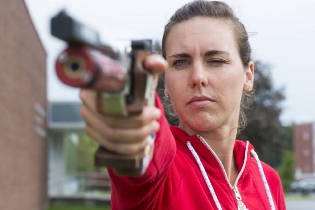 Melanie McCann était de passage à Sherbrooke pour... (Spectre média, Julien Chamberland)