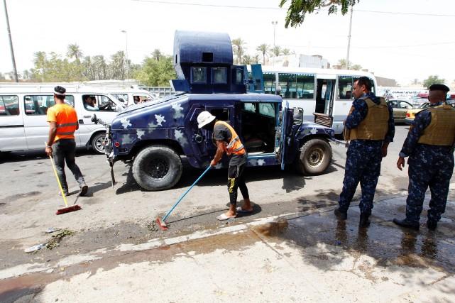 Dimanche, une attaque suicide revendiquée par l'EI avait... (PHOTO AFP)