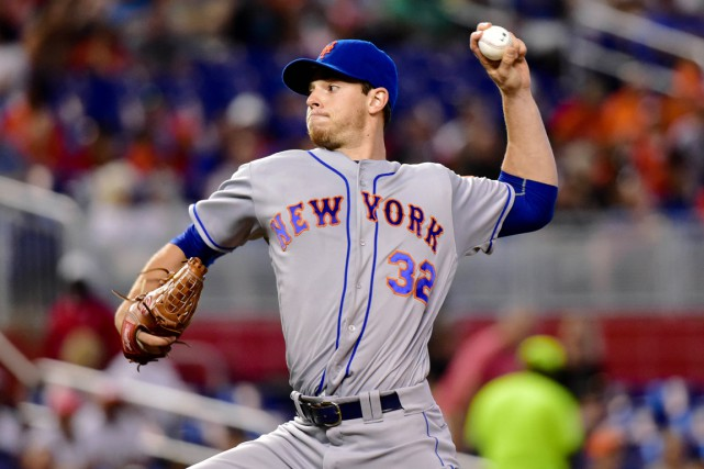 Steven Matz (8-6) a accordé quatre coups sûrs... (photo Steve Mitchell, USA Today Sports)