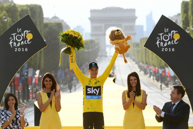 Le Britannique Christopher Froome a remporté dimanche son... (photo STEPHANE MANTEY, archives AFP)