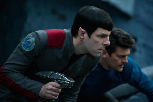 Dans Star Trek Beyond, Spock (Zachary Quinto) et... (Photo fournie par Paramount Pictures)
