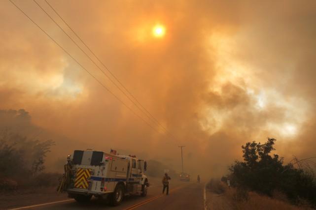 La saison des feux est particulièrement redoutable cette... (REUTERS)