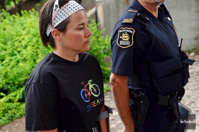 La police de Québec a tenu un point... (Le Soleil, Erick Labbé)