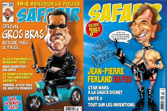 Deux anciens numéros de Safarir.... (IMAGES TIRÉE DE FACEBOOK)