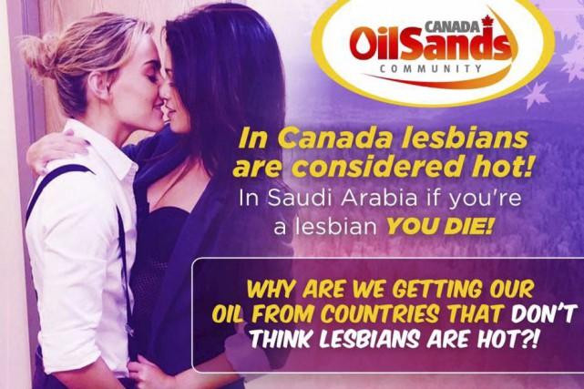 « Au Canada, les lesbiennes sont considérées comme... (Tirée de Facebook)