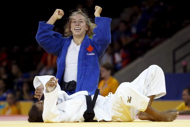 Catherine Beauchemin-Pinard aux Jeux panaméricains 2015, en Ontario.... (Archives AP, Julio Cortez)