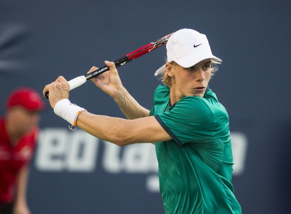 Denis Shapovalov (photo) a eu raison de l'Australien... (La Presse Canadienne)