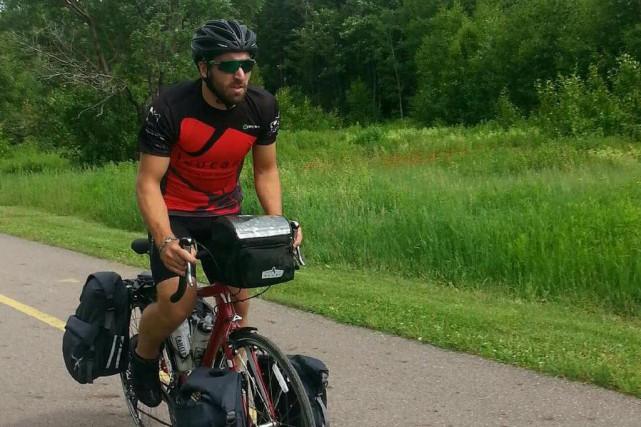 Gabriel Harvey a parcouru plus de 3000 kilomètres... (Photo courtoisie)