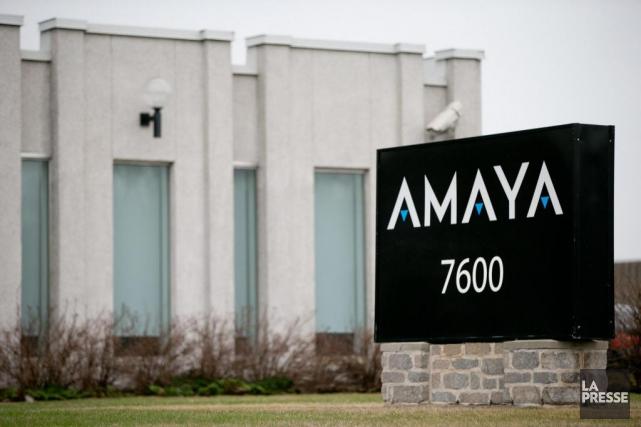 Le siège social d'Amaya à Pointe-Claire est essentiellement... (Photo David Boily, Archives La Presse)