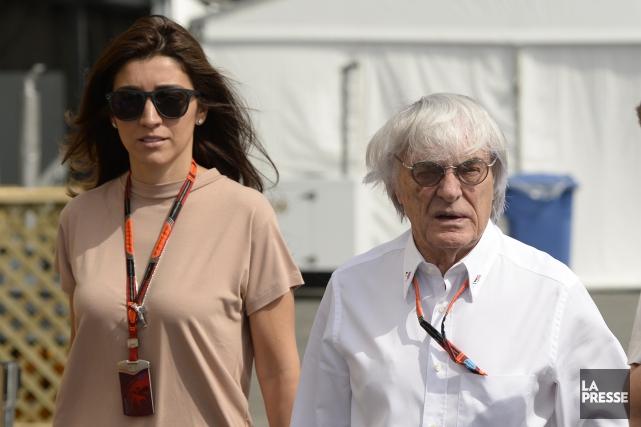 Bernie Ecclestone et sa conjointe Fabiana Flosi dans... (Photo : Bernard Brault, La Presse)