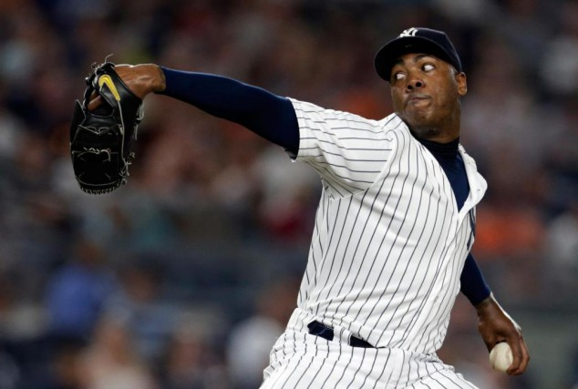 Aroldis Chapman... (Photo Adam Hunger, USA TODAY Sports)