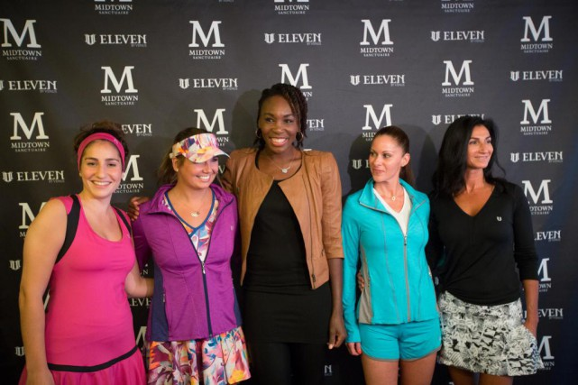Venus Williams était au Midtown Sanctuaire, à Montréal,... (PHOTO OLIVIER PONTBRIAND, LA PRESSE)