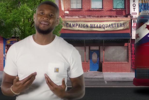 Usher fait partie des artistes demandant aux politiciens... (image tirée d'une vidéo)