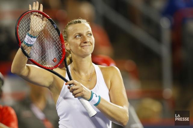 PetraKvitova, 13e mondiale et double lauréate du tournoi... (PHOTO OLIVIER JEAN, LA PRESSE)