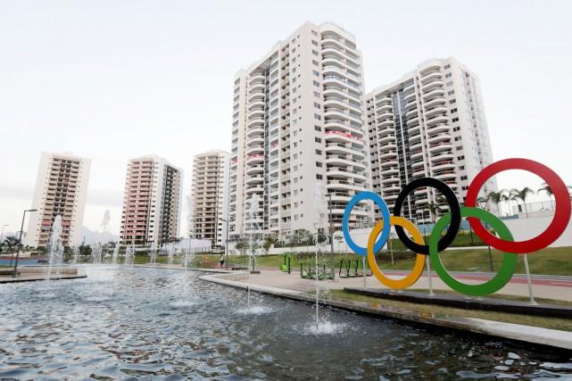Le village des athlètes de Rio de Janeiro.... (REUTERS)