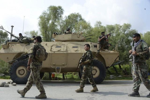 Le ministère de la Défense a affirmé que... (PHOTO NOORULLAH SHIRZADA, AGENCE FRANCE-PRESSE)