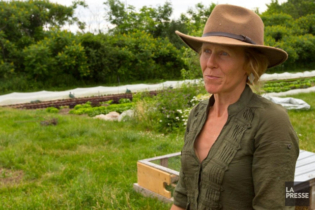 Maude-Hélène Desroches, copropriétaire des Jardins de la Grelinette.... (PHOTO OLIVIER JEAN, LA PRESSE)