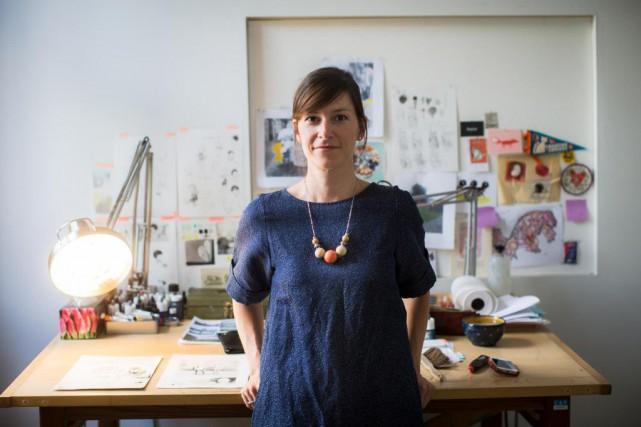 Isabelle Arsenault a illustré le livre Une berceuse... (PHOTO OLIVIER PONTBRIAND, LA PRESSE)