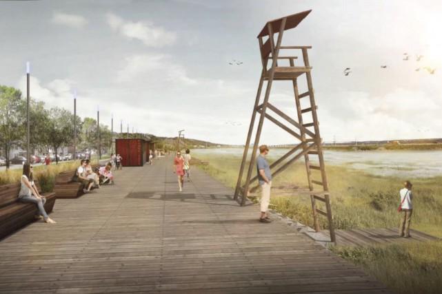 Le prolongement dela promenade Samuel-de-Champlain permettrait de relierle... (Fournie par la Commission de la capitale nationale)