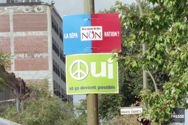 La campagne référendaire de 1995.... (Archives La Presse)