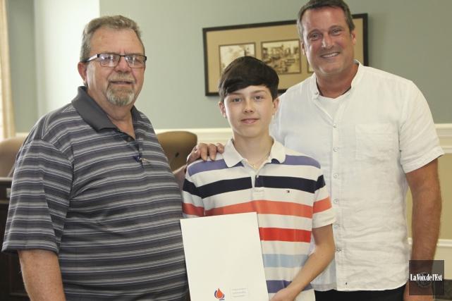 La collecte de sang du maire de Granby... (Alain Dion, La Voix de l'Est)