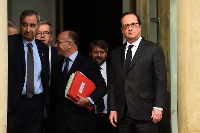 Réunis mercredi à l'Élysée, les représentants des différentes... (PHOTO AFP)