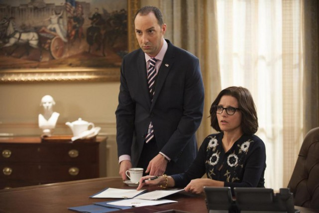 Tony Hale (Gart Walsh) et Julia Louis-Dreyfus (Selina... (Photo Lacey Terrell, fournie par HBO)