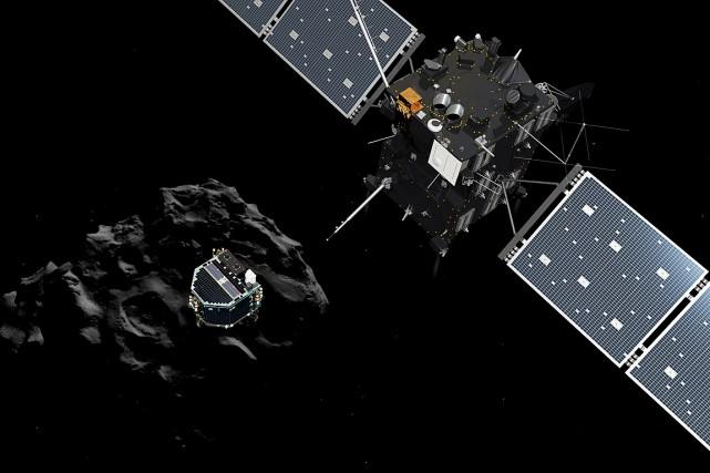 Après dix ans de voyage comme passager de... (Illustration fournie par l'Agence spatiale européenne (ESA))