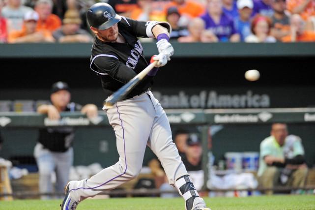 Carlos Gonzalez a parti le bal avec un... (photo Evan Habee, USA Today Sports)
