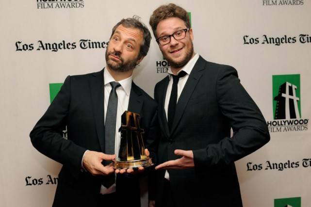 Judd Apatow et Seth Rogen seront à Montréal,... (Photo by Chris Pizzello, Archives Associated Press)