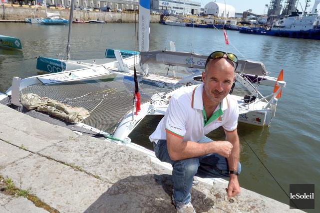 Damian Foxall, de Stoneham, avant son départ pour... (Le Soleil, Erick Labbé)