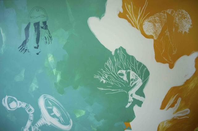 Une section de la murale exposée à la... (Fournie par Hélène Pélissier)
