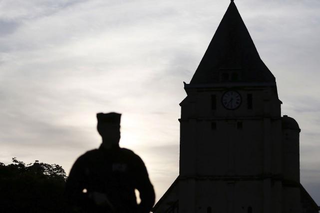 L'église de Saint-Étienne-du-Rouvray... (AFP)