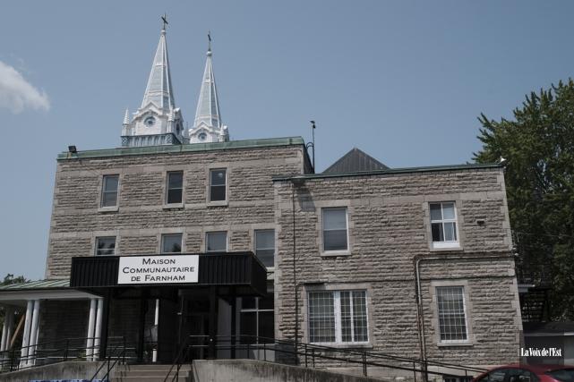 Les locaux de l'ancien presbytère Saint-Romuald à Farnham... (Alain Dion, La Voix de l'Est)