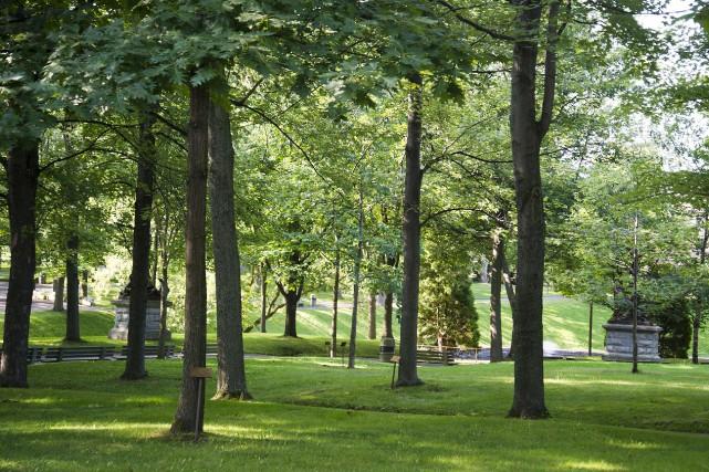 Les jardins du sanctuaire Notre-Dame-du-Cap.... (Andréanne Lemire)