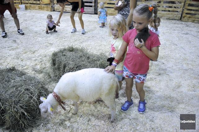 La jeune Abigaël s'est amusée dans la populaire... (Photo Le Quotidien, Rocket Lavoie)