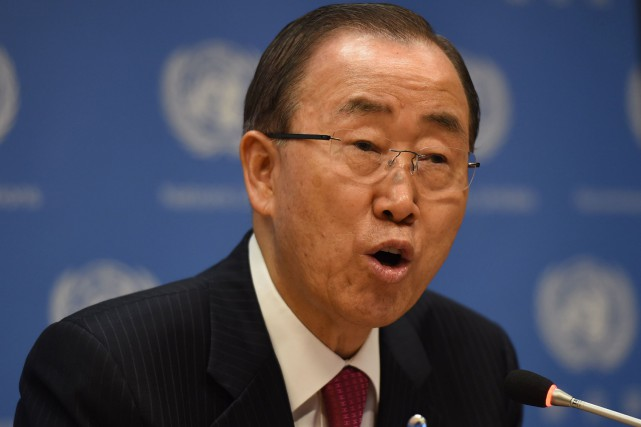 Ban Ki-moon... (Photo Don Emmert, archives Agence France-Presse)