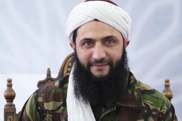 Le chef du Front al-Nosra Abou Mohammad al-Jolani... (PHOTO Al-Manara Al-Baydaa/AFP)