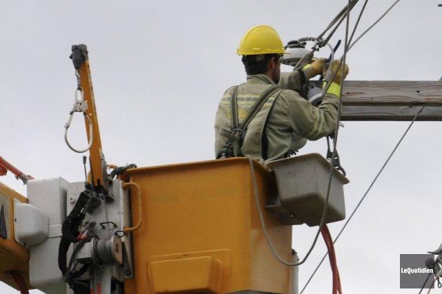 Au plus fort de la panne d'électricité, près... (Archives, Le Quotidien)