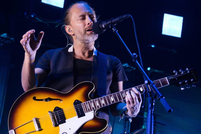 Le groupe de rock britannique Radiohead actuellement en tournée internationale... (PHOTO AP)