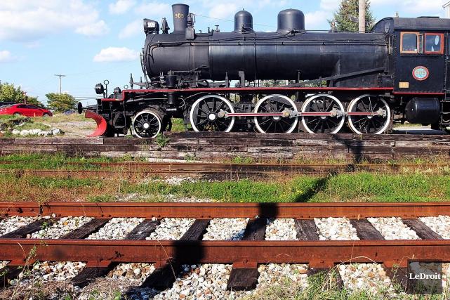 Le train à vapeur pourrait finalement rester dans... (Etienne Ranger, Archives LeDroit)