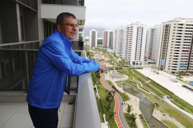 Thomas Bach, président du Comité international olympique, s'est... (AFP, Ivan Alvarado)
