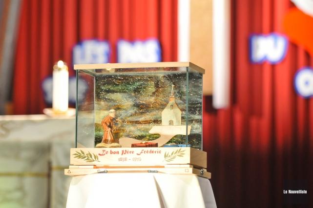 Le reliquaire du Père Frédéric.... (Archives Le Nouvelliste)