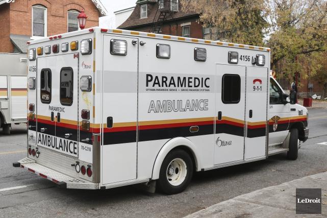 La femme a accouché à l'intérieur de l'ambulance... (Patrick Woodbury, Archives LeDroit)