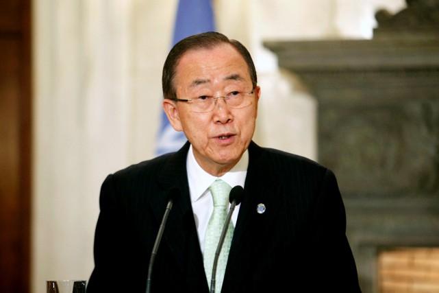 Ban Ki-moon: «Puisse la sérénité apportée par la... (photo Yorgos KONTARINIS, archivesAFP)